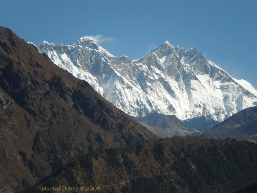 View of Mt Everest
